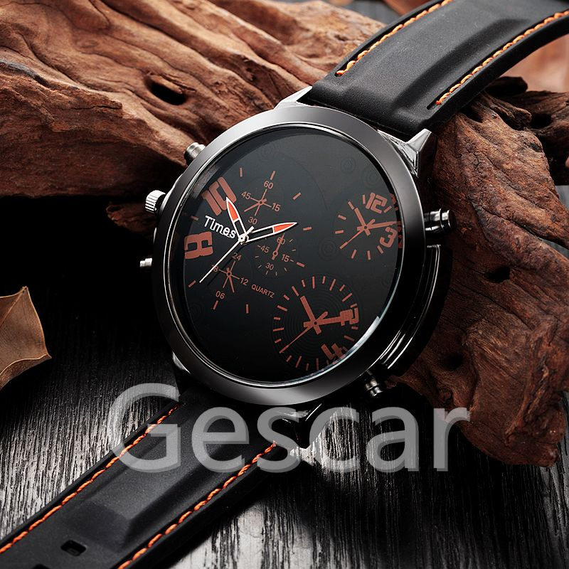 V8204 big round dial man silicone watch special charming rubber quartz wrap casual wristwatch for man wholesale clock