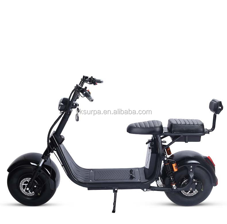 2 60 v 12ah batterie amovible 1500 w double suspension citycoco e scooter yongkang surpa fat. Black Bedroom Furniture Sets. Home Design Ideas