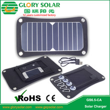 Portable 6.5W Output Waterproof Foldable 5V Solar Panel Charger For Mobile Phone outdoor