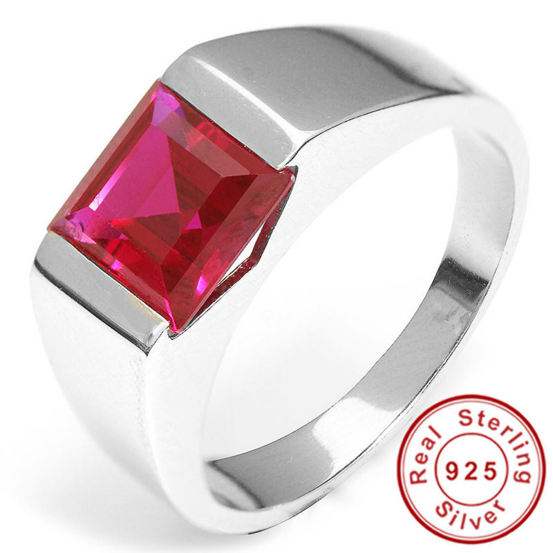 Ruby Wedding Gifts For Men: Men's Jewelry Classic Ruby Engagement Wedding Ring For Men