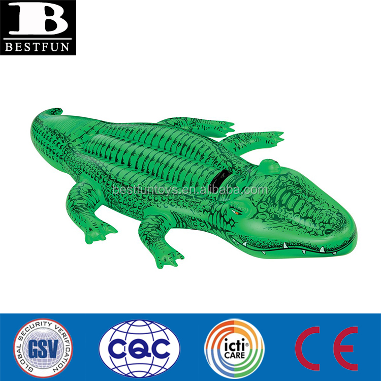 Heavy Duty Thick Pvc Giant Inflatable Crocodile Pool Float Durable Vinyl  Realistic Blow Up Alligator Ride On Toys With Handles   Buy Inflatable  Crocodile ...