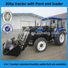 professional best 80hp 4wd farm tractor with front end loader for Australia market