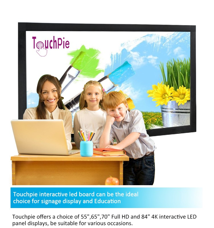 55 inch klaslokaal 10 punten multi-touch interactieve whiteboard smart tv