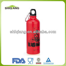 600ml aluminum drink water bottles with customized logo and carabiner lid