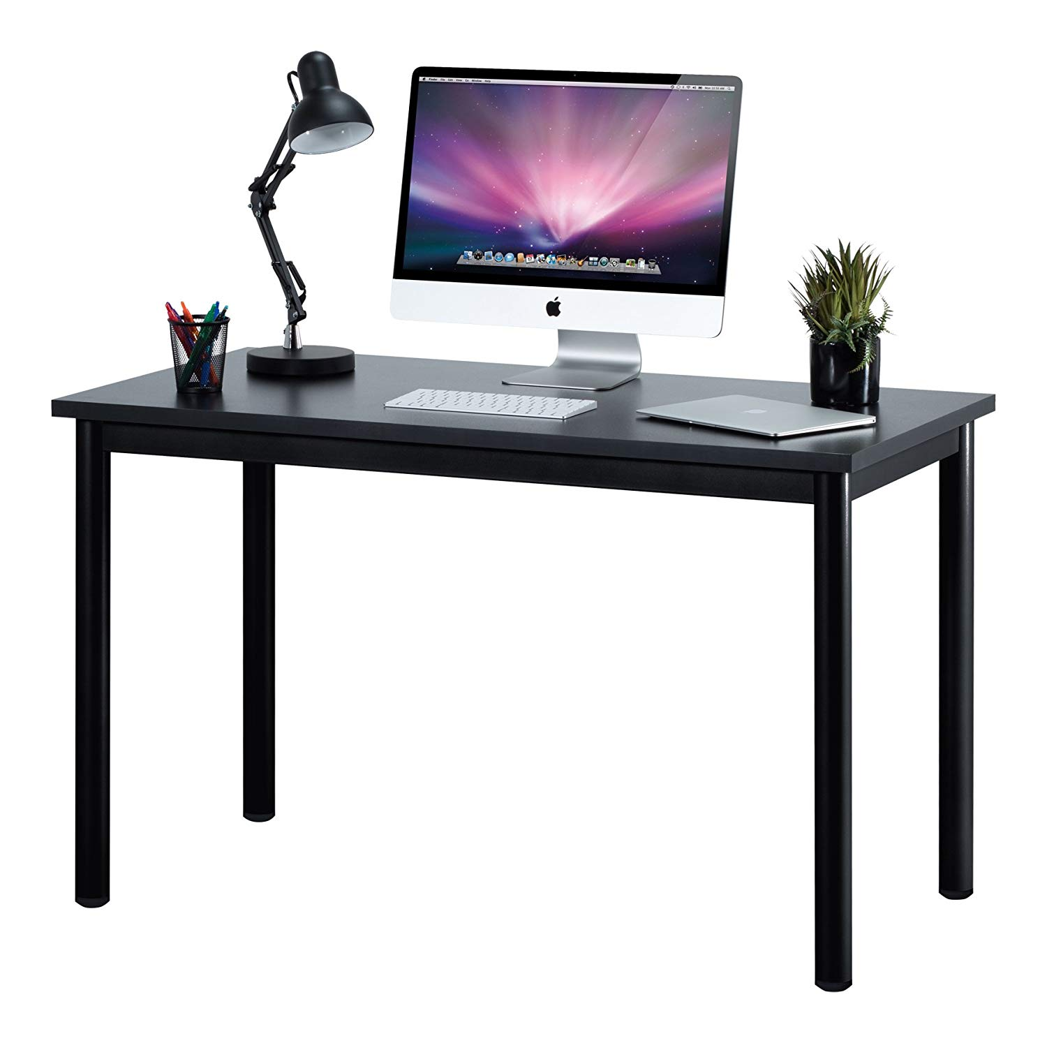 """Fineboard 47"""" Home Office Computer Desk Writing Table, Black"""