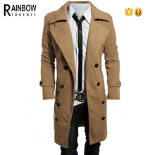 Wholesale Jackets Men Business Windbreaker Trench Coat