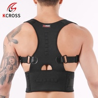 Breathable Back Support Brace and Straight Back Adjustable Straps Posture Corrector Shoulder for Women and Men
