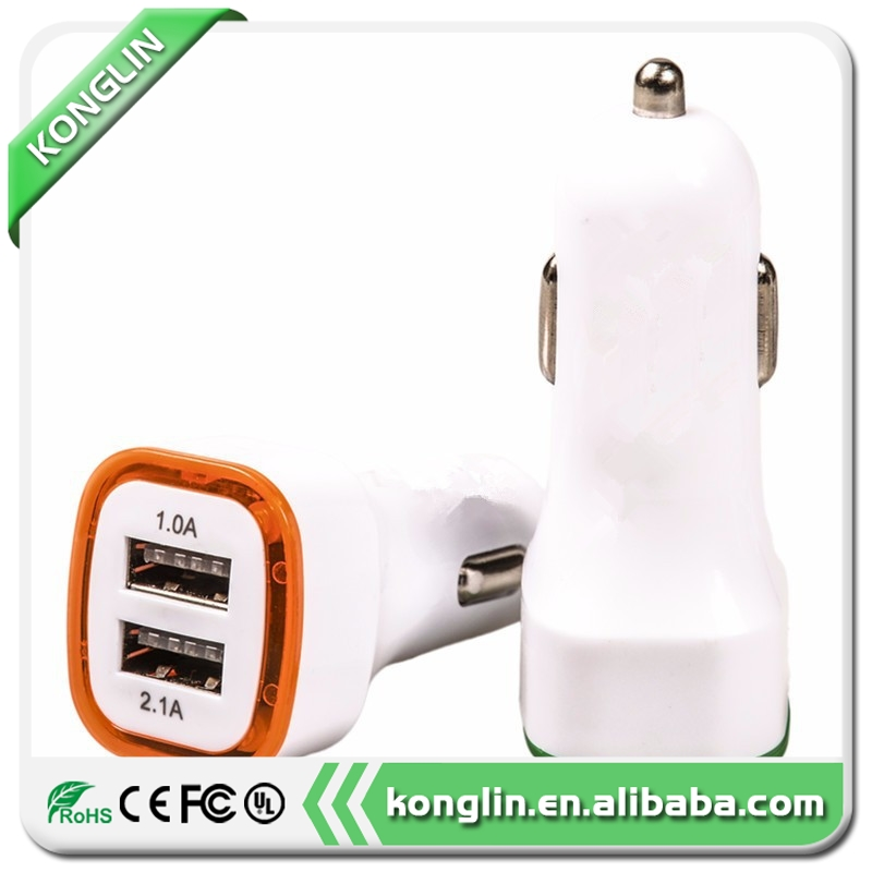 Wholesale super mini car battery charger,wall charger with cable for smartphone,dual port car charger