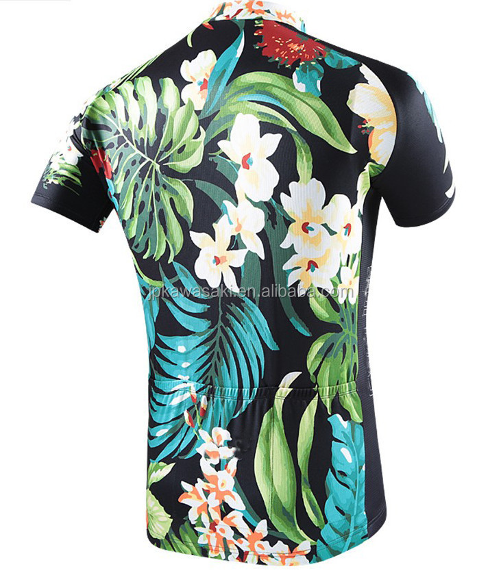 Fashion Hawaii Style Cycling Wear Quick Dry Breathable Hot Selling Wholesale Cycling Jersey