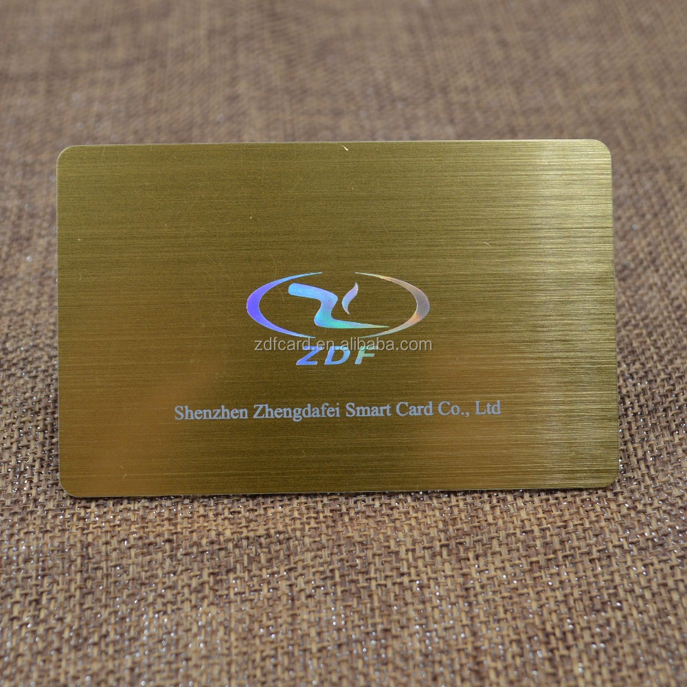 Plastic Mirror Gold Brushed Vip Business Card With Laser Stamping ...