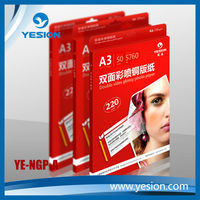 Premium RC Canvas Inkjet Printing Photo Paper, Double Sides Waterproof RC Canvas Photo Paper