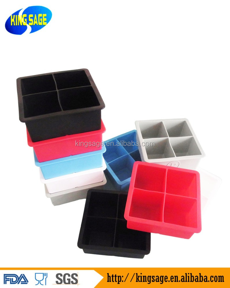 DIY Refrigerator 4 cavity Silicone Ice Cube Tray/Silicone Ice Maker/Silicone Ice Molds