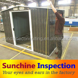 factory inspection/ company verification and quality control for garden shed in guangzhou and zhangzhou