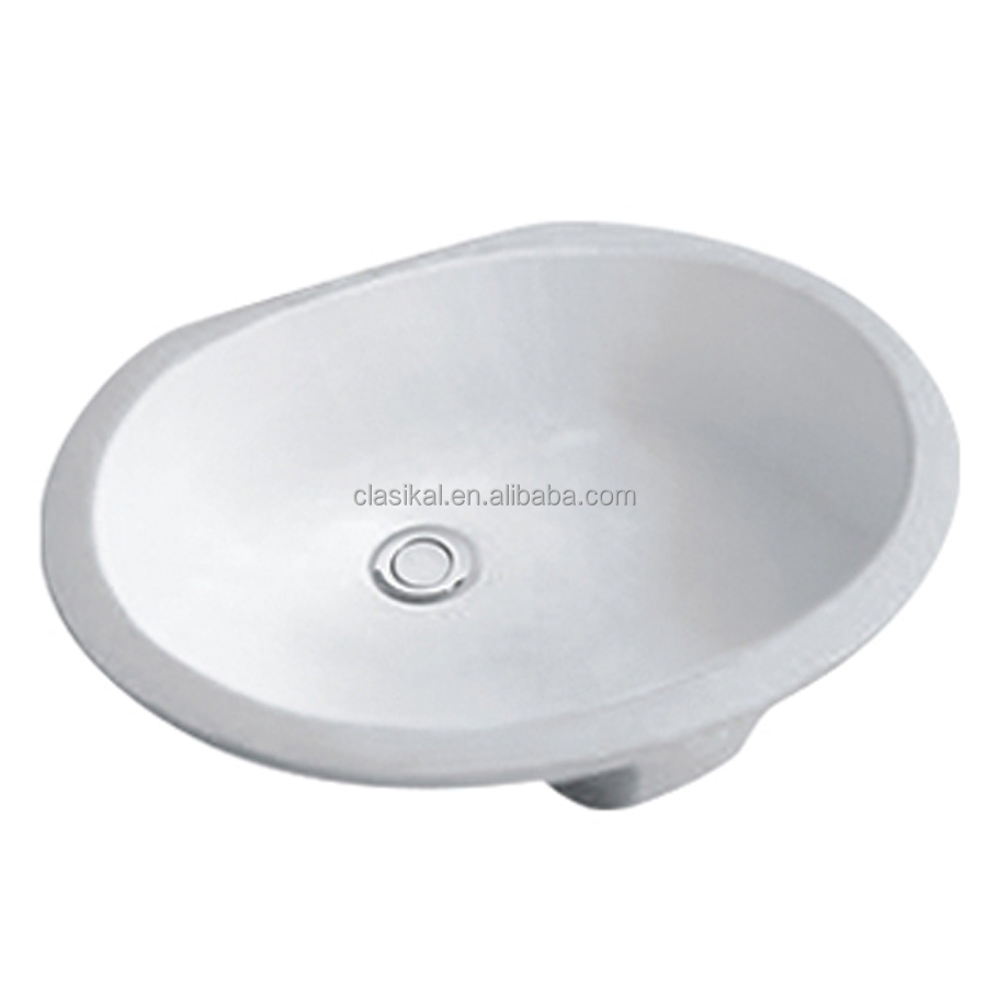 Italian market popular washing ceramic under counter basin