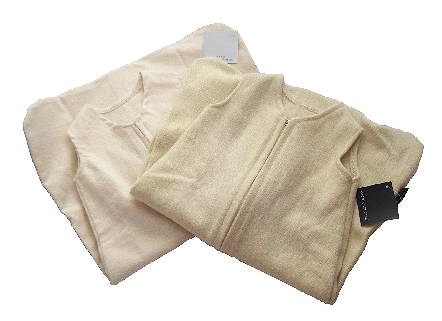 Organic Caboose Organic Sleep Sack - Cotton Flannel Available in Sizes 0-3 Months, 3-6 Months, and 6-9 Months