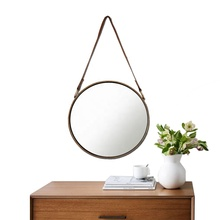 Custom 골동품 걸 Oval Round 나무 Frame <span class=keywords><strong>벽</strong></span> Mirror 장식