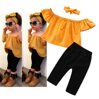 WHS09 Summer 2019 Fashion Baby Kids 2PCS Clothing girls clothing sets For Wholesale