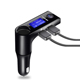 GXYKIT new arrival bluetooth handsfree car fm transmitter car mp3 music player car kit portable charger for phone with display