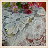 Latest flower design eyelash lace trim white bridal nylon double scalloped lace hot sale