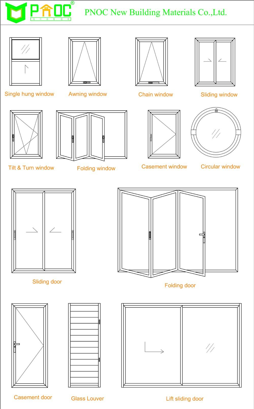 Aluminuim Glass And Casement Windows With German High
