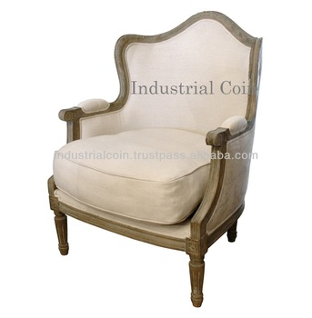 Charmant French Barrel Fabric Back Rest Sofa Chair