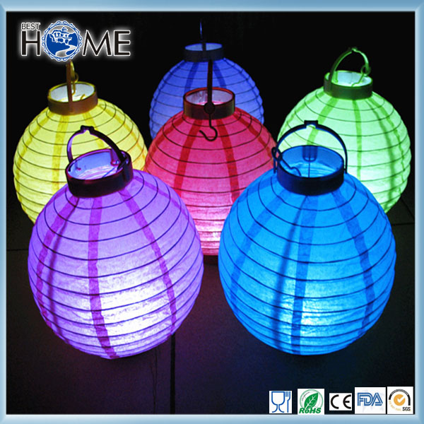 Colorful Luminary LED Paper Lantern Hanging for Festival Holiday