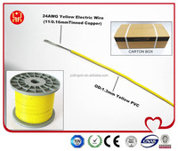 Low Price AWG 24 One Core Yellow Electric Wire