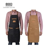 Canvas Hair Salon Stylish Apron With Pockets For Men And Women