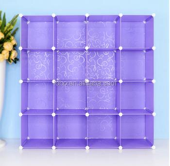Diy Magic Cubes 16 Pairs Modern Shoe Rack Cabinet Shelf (fh ...