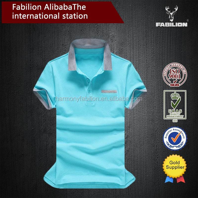 New design high quality brand 100% men cotton polo t-shirt