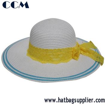 Fashion Girl Derby Summer Beach Straw Sun Hat Buy Straw Sun Hat