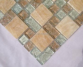 Crackle cristallo mattonelle di mosaico backsplash piastrelle