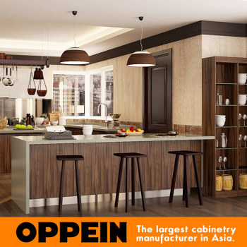 Kenya Modular Project Affordable Modern U Shaped PVC Kitchen Cabinets