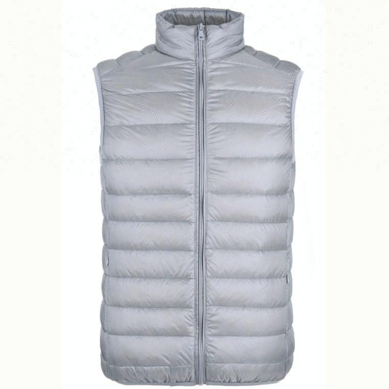 2018 Ultra Lightweight White Duck Down Men Sleeveless Winter Jacket фото