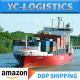 Amazon fba DDP freight forwarder transport service China to Belgium by sea