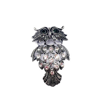 0f0856443 Wholesale Fashion Jewelry Vintage Antique Silver Plated Alloy Rhinestone  Brooches for Men Cute Animal Owl Brooch