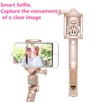 30e43f012a446b anti shaking aluminum bluetooth power bank selfie stick with led light for  iphones and androids phones