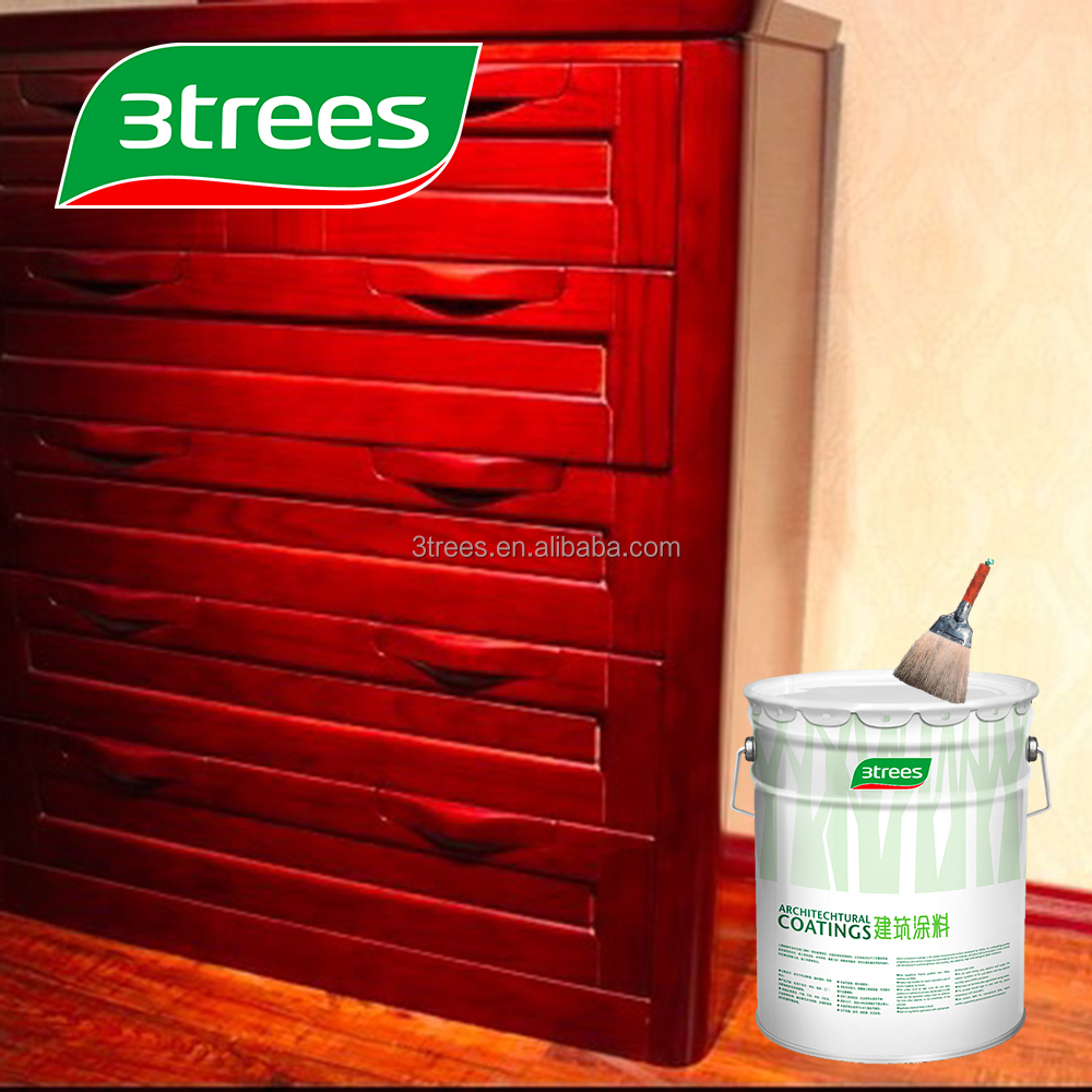 3TREES High Solid High Performance Clear PU Paint Wood Varnish