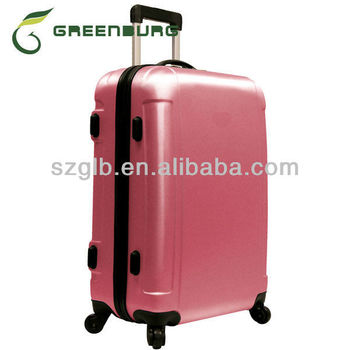 Hot Sale Abs Hard Shell Lightweight Girls Pink Luggage Travel ...