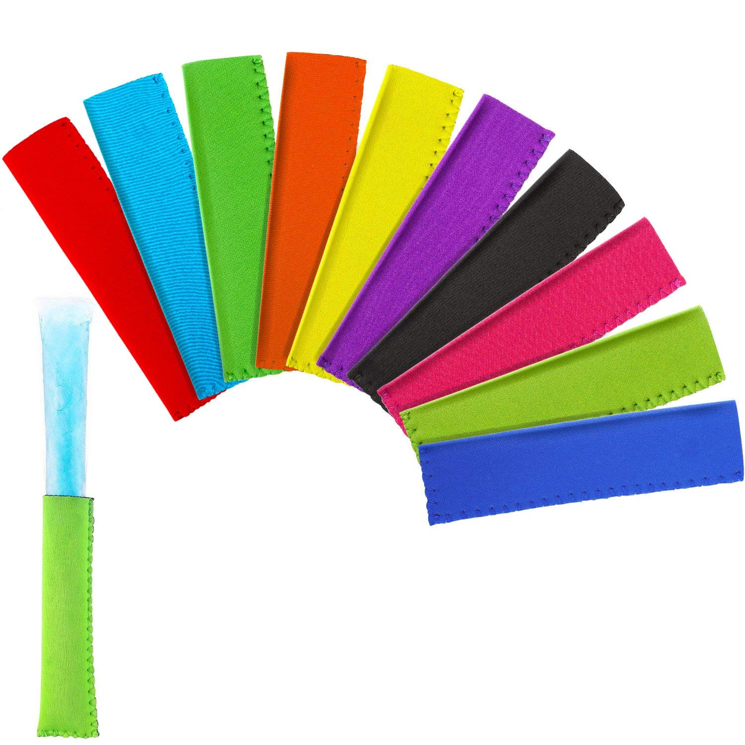 BBTO Popsicle Holders Ice Pop Sleeves Bags Freezer Insulation Pop Sleeves, 10 Colors (20)