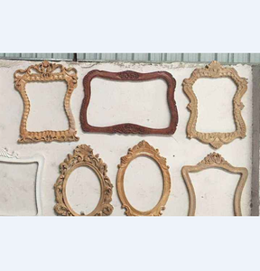 Mirror frame manufacturer polyurethane hand carved decorative wood mirror frame
