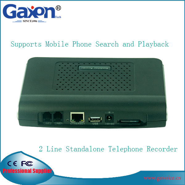 2 Line Standalone Telephone Line Voice Recorder Landline Supports Mobile Phone Search