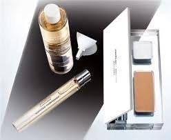 Essence Narciso Rodriguez Eau De Parfum Refillable Spray and Refill 0.33 Fl. Oz. 1.6 Fl. Oz Blush Mat 0.17 Oz Net Wt. Lip Baum 0.07 Oz Net Wt..