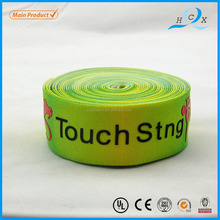 Custom logo printed elastic satin ribbon for garment label as roll
