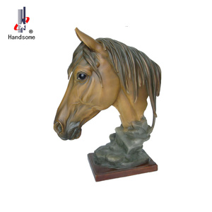18.5 Inch Resin Animal Souvenir Sculpture Horse Head Statue