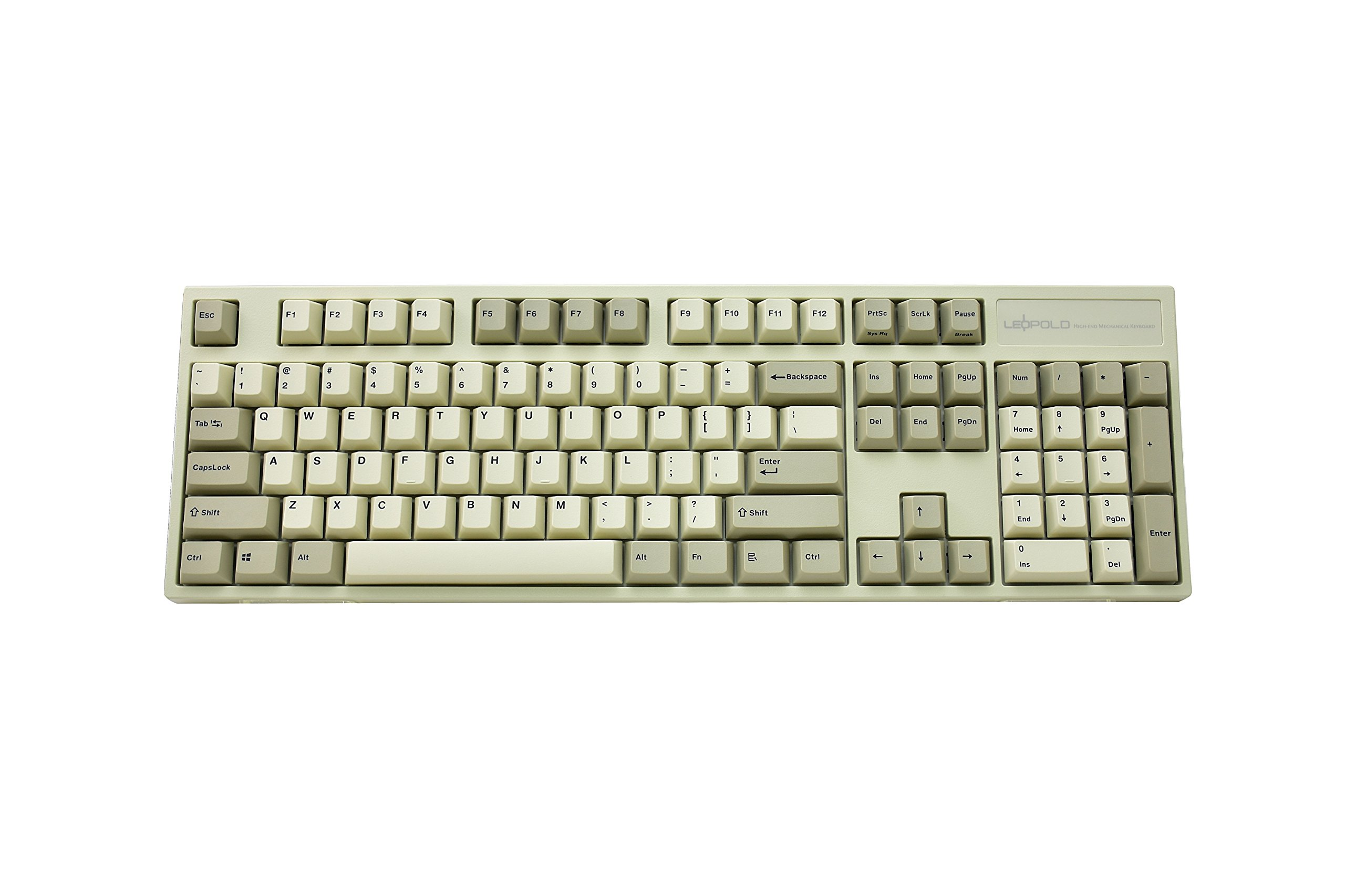f5291b86e2b Get Quotations · Leopold FC900R PD Mechanical Keyboard with Cherry MX Brown  Switch (White Case, White/