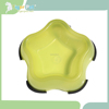 Lovely yellow star shape China hot sale rubber dog bowl