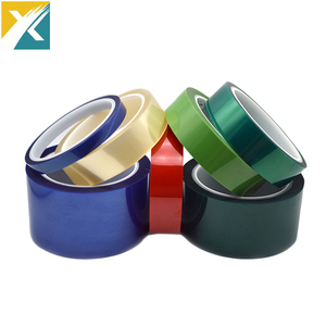 Green Polyester Silicone Adhesive Electroplating Tape Heat Resistant PET Powder Coating Tape Green Masking Tape