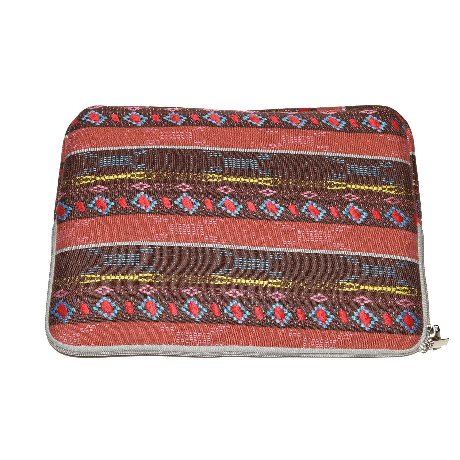 """Bohemian Laptop Case - CASETIME Bohemian Style Canvas Fabric Laptop Sleeve 13-13.3 Inch Laptop Case Cover Bag for 12.9 iPad Pro/MacBook Air/MacBook Pro/Notebook (13""""--No.19 Coffee)"""