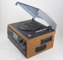 Antique customized retro radio player with double CD and cassette for sale